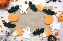 Halloween Cookies Background