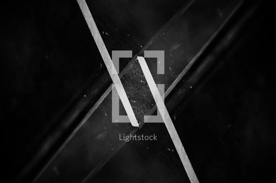 Minimal black texture background futuristic prism