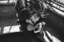 woman checking her cellphone