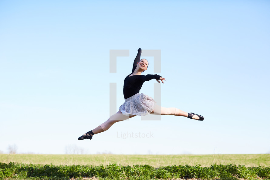 a ballerina outdoors