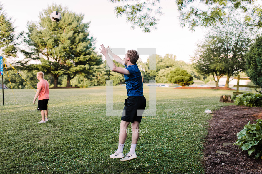 backyard volleyball