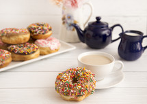 sprinkled donuts