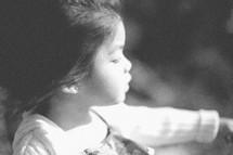 A toddler girl