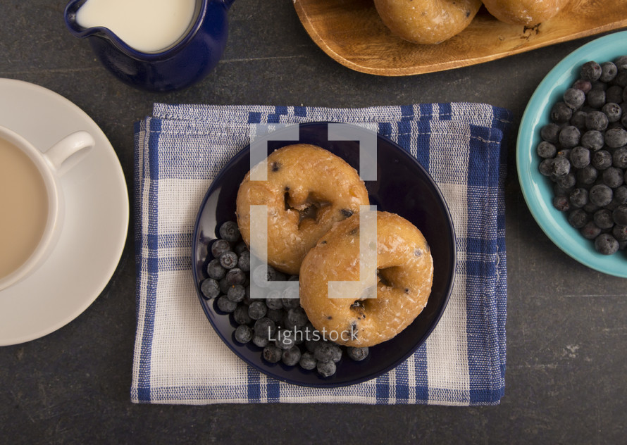 blueberry cake donuts