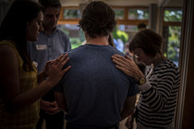 laying on of hands in prayer
