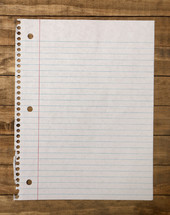 torn out notebook paper