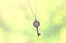 key on a necklace