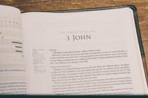 Bible opened to 3 John