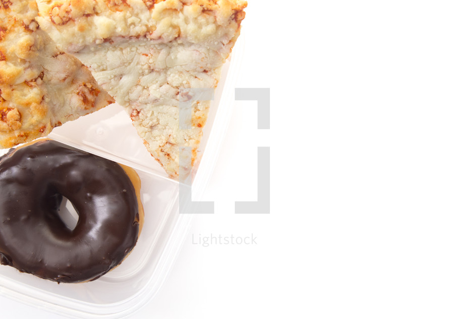 pizza and donuts