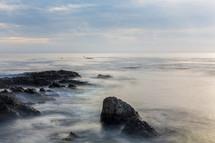 mist over the ocean