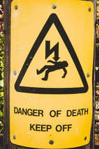 Danger of Death Keep Off