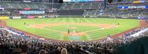 fans at a baseball stadium