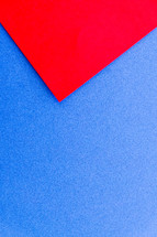 red and blue paper