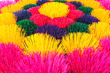 vibrant color tassel texture