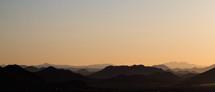 mountain peaks at sunrise
