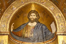 Mosaic of Jesus  the Messiah