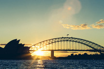 Sydney Harbour Bridge at sunset