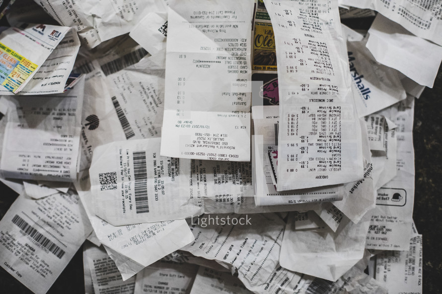 pile of receipts