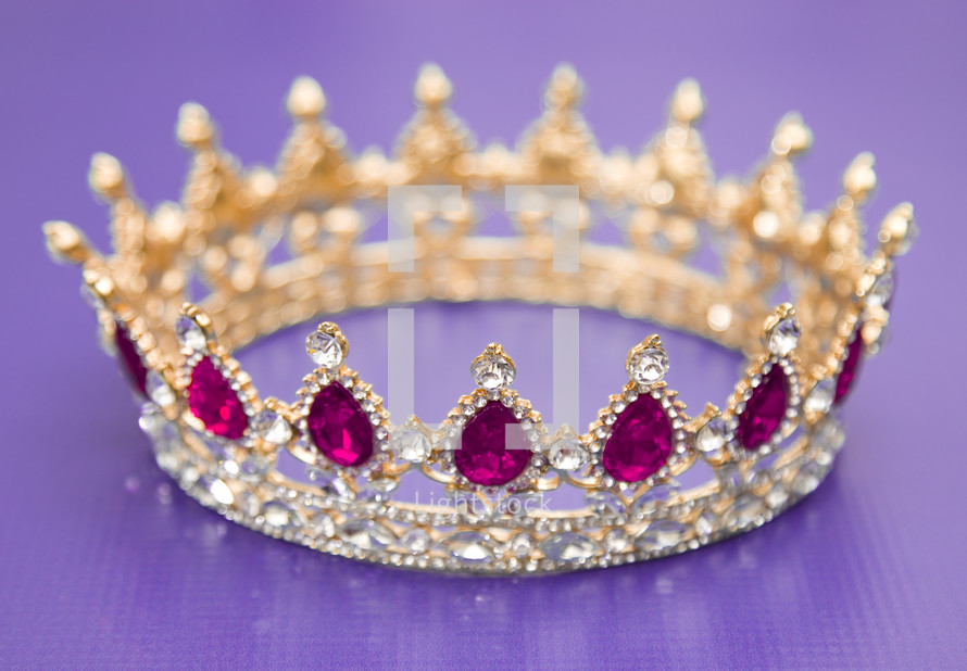 jewel studded crown