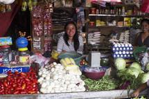 women in a market