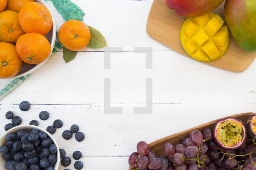fruit border background