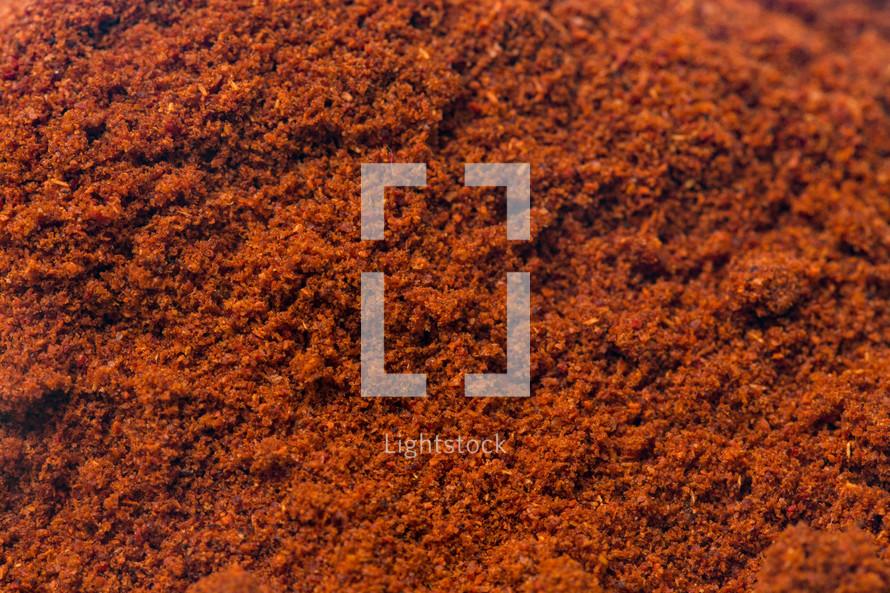 powdered paprika background