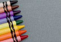rainbow of crayons