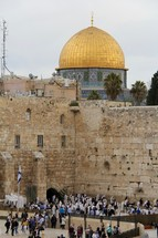 Dome of the Rock, Muslim Mosque and Western (Wailing) Wall, Jerusalem