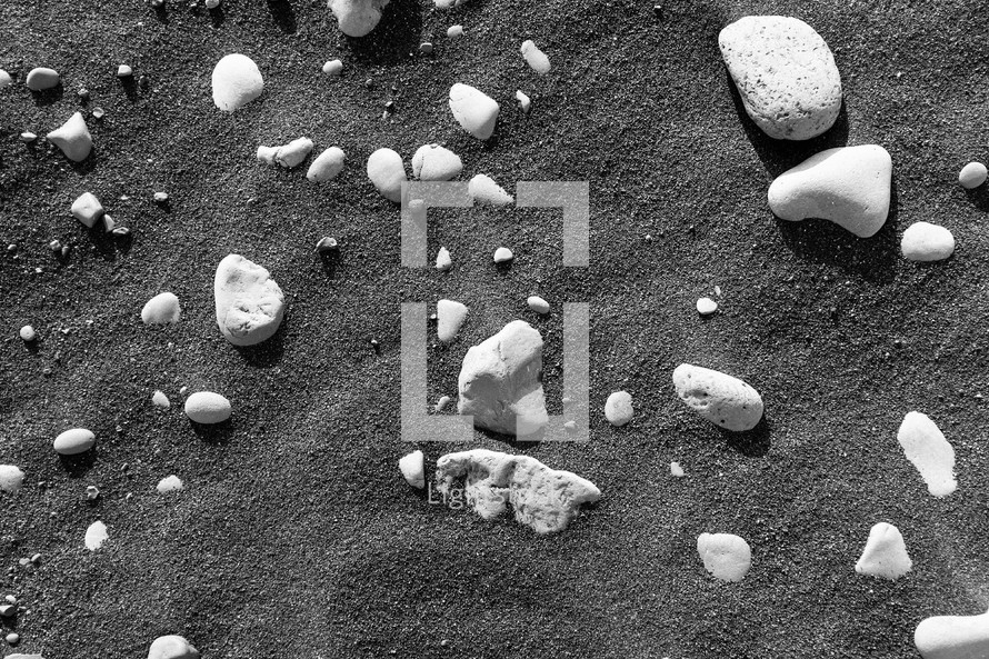 rocks in the sand