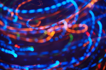 swirling colorful light