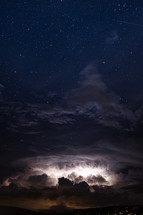 Heat lightning and stars