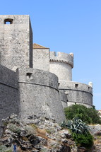 Castle walls and strong tower