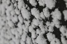 snow on a tarp
