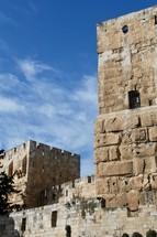 Stone walls around Jerusalem