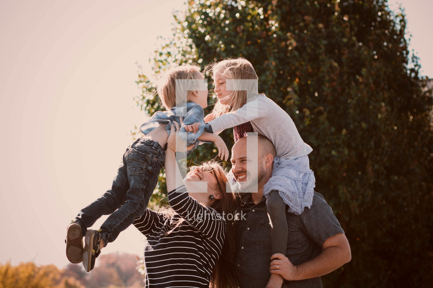 family enjoying time together outdoors