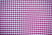 Gingham cloth.