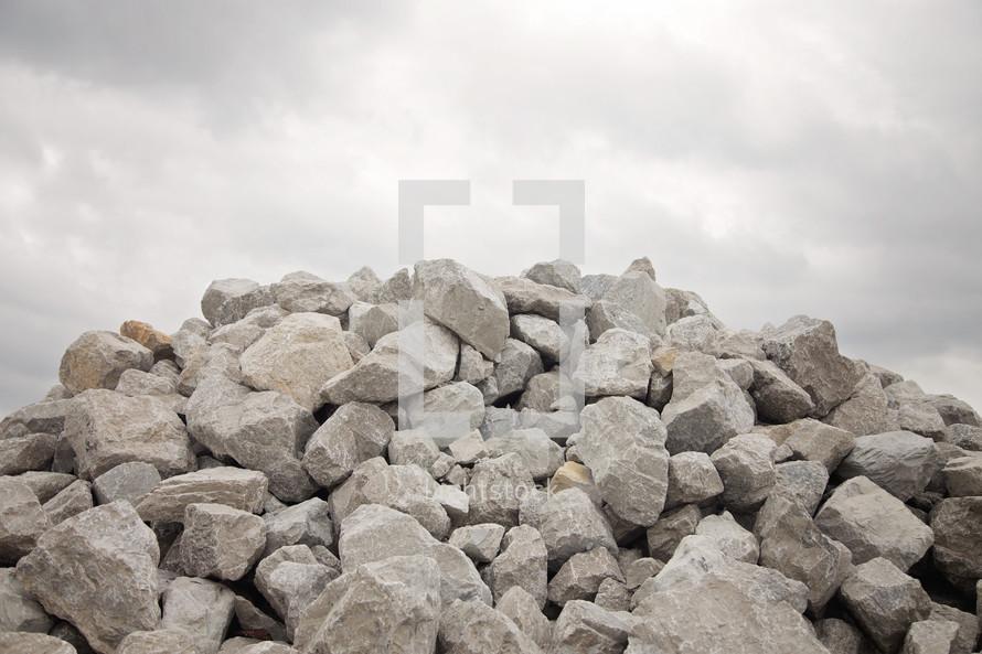 large grey boulder rocks