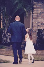 father and daughter ready for a daddy daughter dance