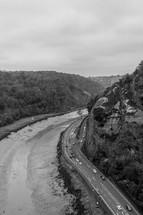 ravine and highway