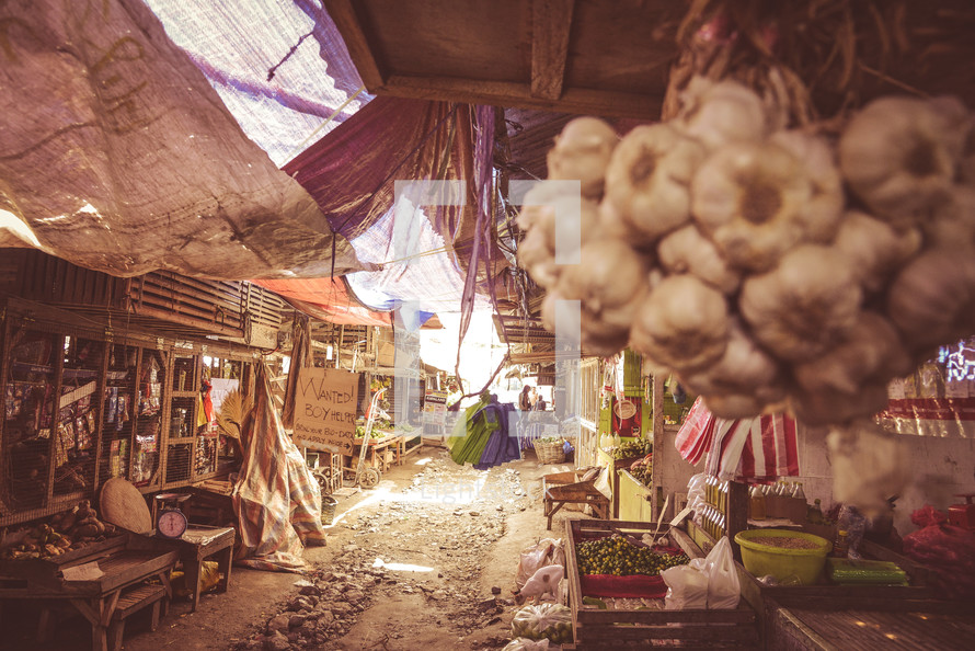 a street market in the Philippines