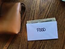 budgeting food envelope