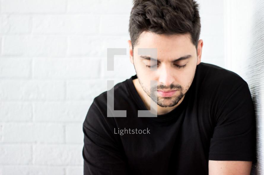 a praying man
