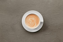 coffee cup on a grey background