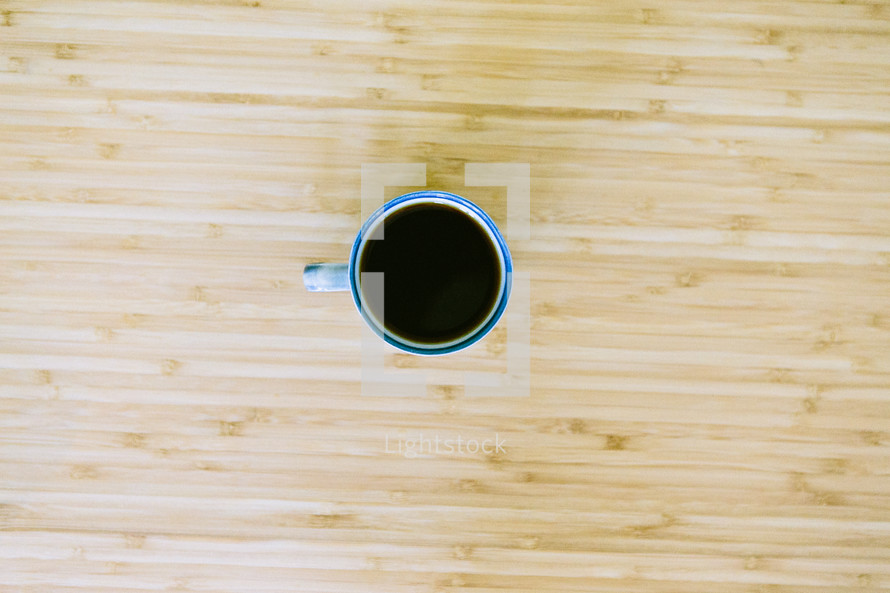 Morning coffee from above