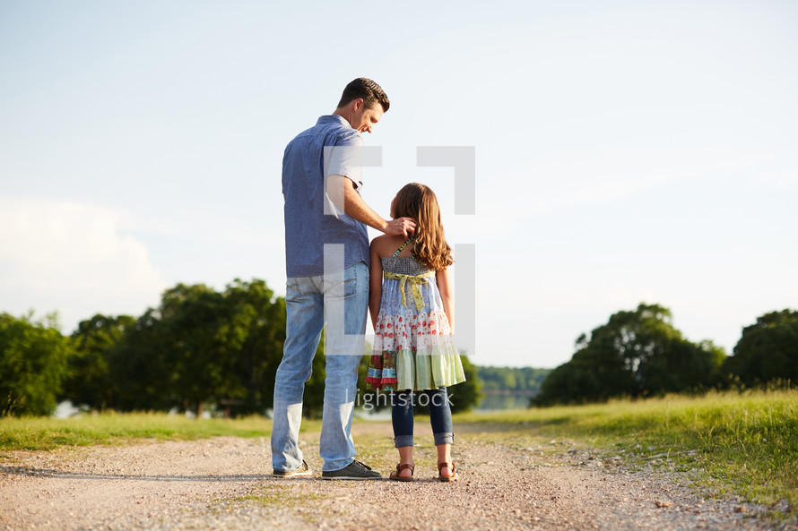 a father with his daughter