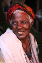 Face of an elderly tribal woman [For similar search Ethnic Face Smile]