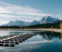 marina in a lake