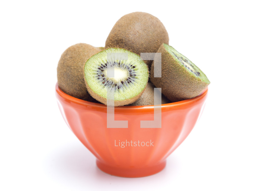 bowl of kiwi fruit