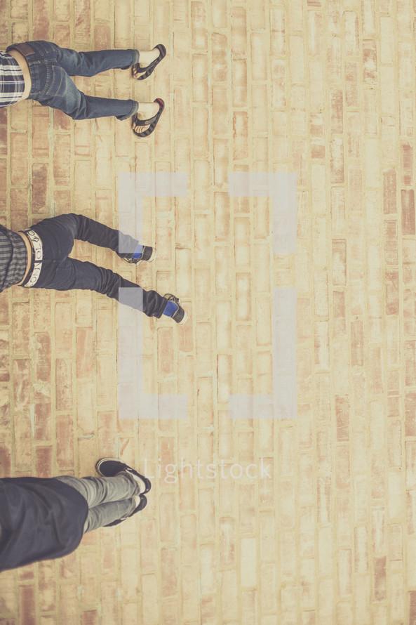 climbing a wall