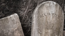 All is well tomb stone